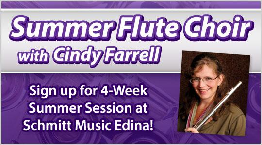 Summer Flute Choir with Cindy Farrell, Flute Workshop session at Schmitt Muisc Edina