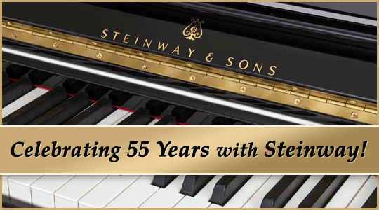 Schmitt Music Celebrates 55 Years as a Steinway Piano Dealer!