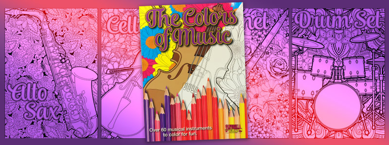 Hot Off The Press: The Colors of Music coloring book!