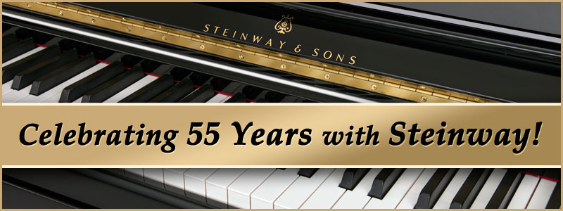 June 18, 2016 Marks 55-Year Anniversary with Steinway & Sons Pianos!