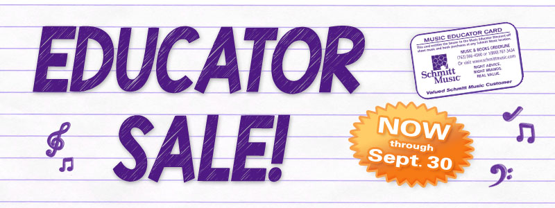 Educator Sale - 20% OFF on sheet music and books