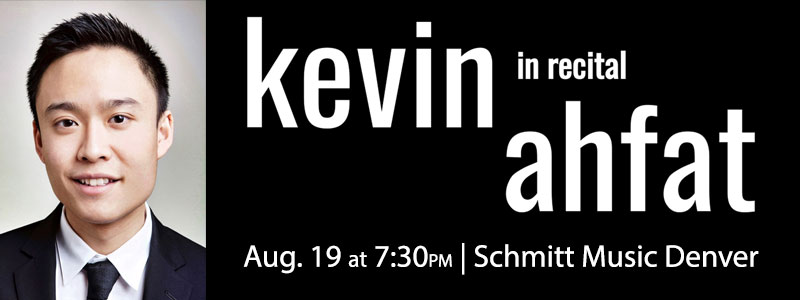 Pianist Kevin Ahfat in concert at Schmitt Music Denver