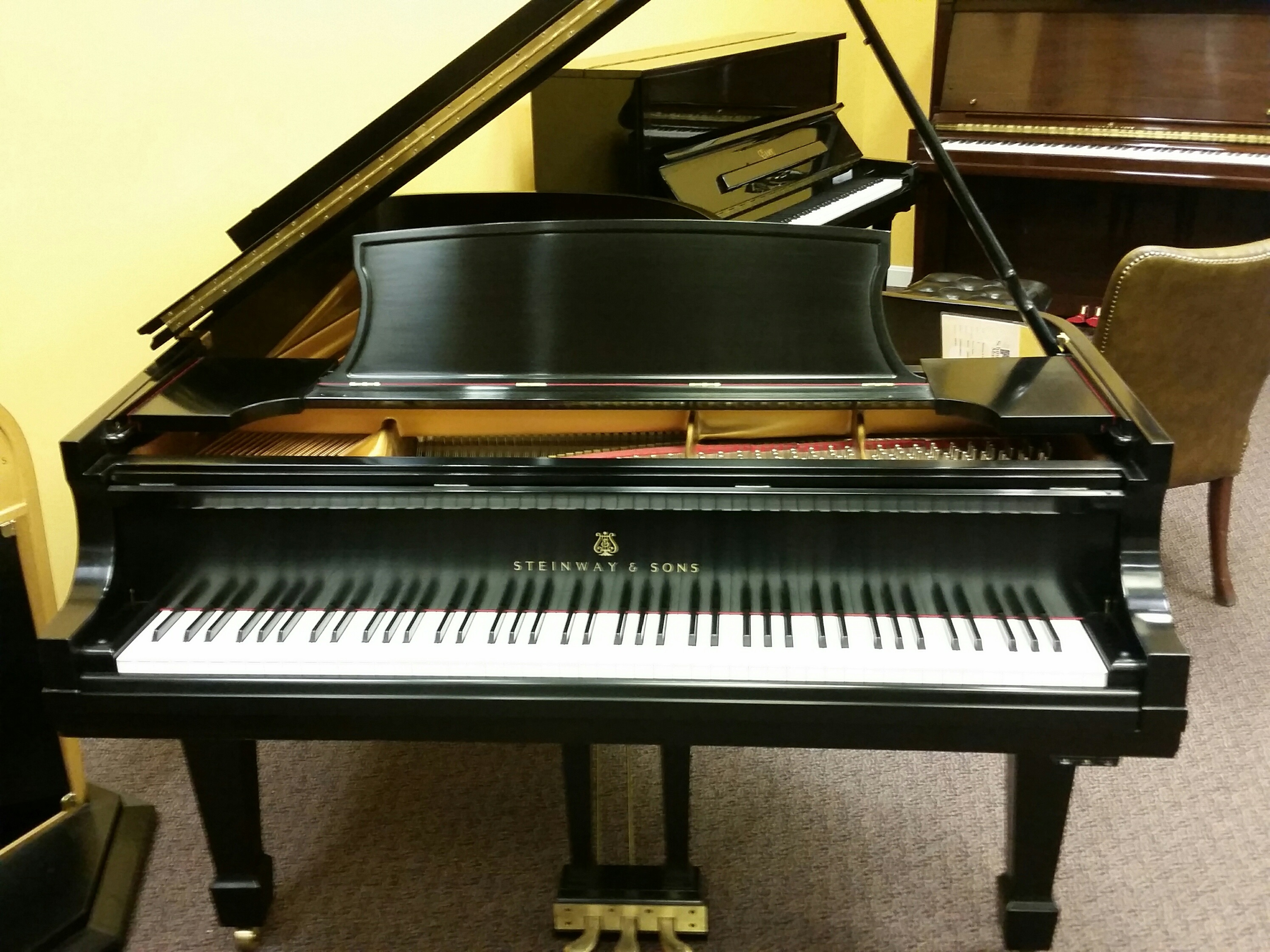 Consignment Steinway B Ebony Satin Grand Piano For Sale