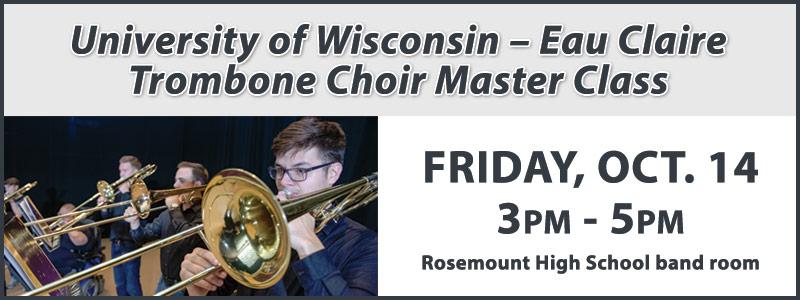 UW-Eau Claire Trombone Choir Master Class at Rosemount High School