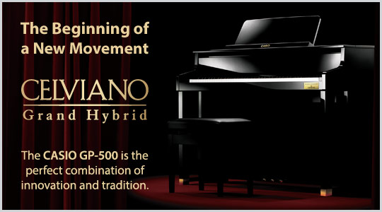 Casio Celviano Grand Hybrid GP-500 digital piano is the perfect combination of innovation and tradtion