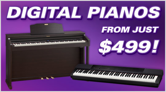 Digital Pianos from just $499