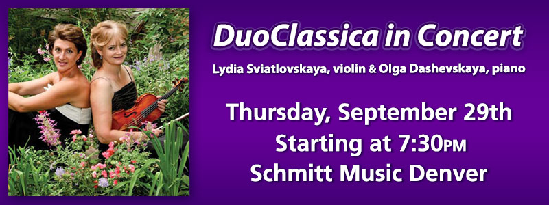 DuoClassica in Concert at Schmitt Music Denver