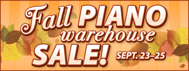 Fall Piano Warehouse Sale at Schmitt Music stores in the Twin Cities