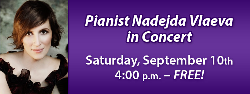 Pianist Nadejda Vlaeva in Concert at Schmitt Music Denver