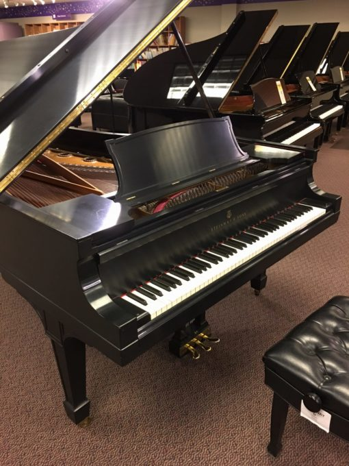 Used Steinway D 1924 9' Ebony Satin Finish Grand Piano
