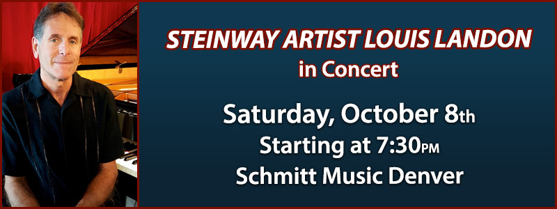 Steinway Artist Louis Landon in Concert at Schmitt Music Denver