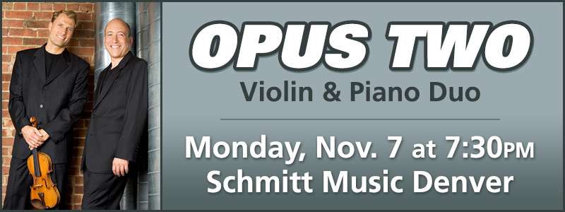 An Evening with Opus Two at Schmitt Music Denver