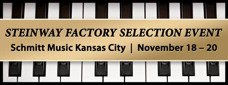Steinway Piano Selection Event at Schmitt Music Kansas City
