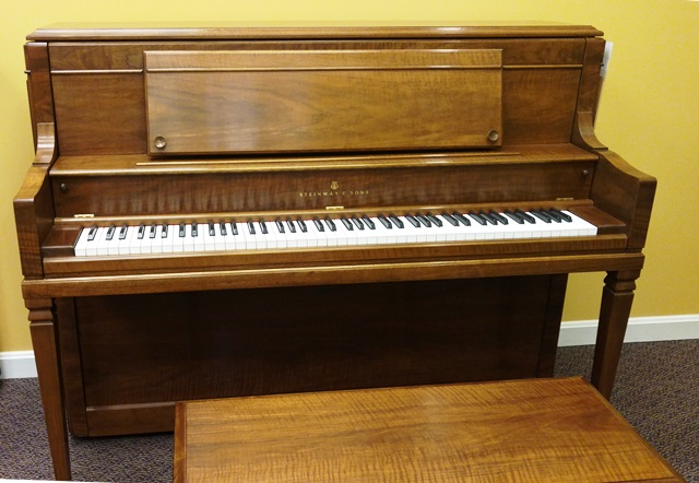 Consignment Steinway Home Studio Vertical Piano