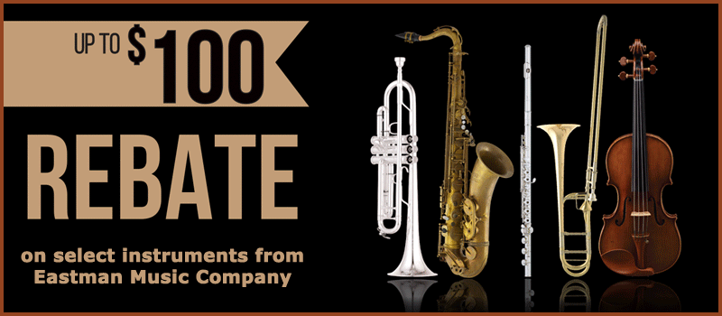 Rebates on instruments from Eastman Music Company