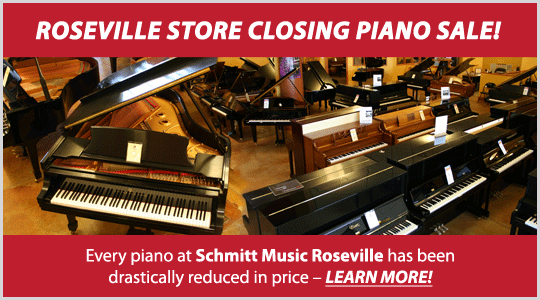 Roseville store closing piano sale at Schmitt Music