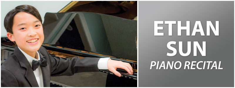 Pianist Ethan Sun in Recital at Schmitt Music Kansas City