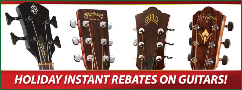 Holiday Guitar Rebates