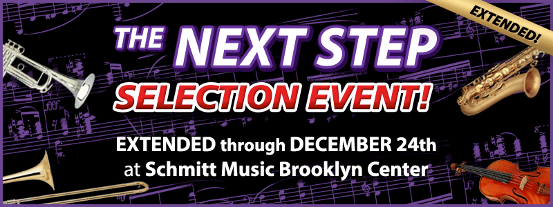 Instrument Selection Event EXTENDED at Schmitt Music Brooklyn Center!