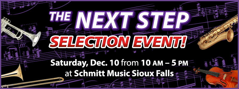 Band & Orchestra Instrument Selection Event at Schmitt Music Sioux Falls!