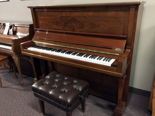 "Used Steinway Model K 52"" Walnut Upright Piano"