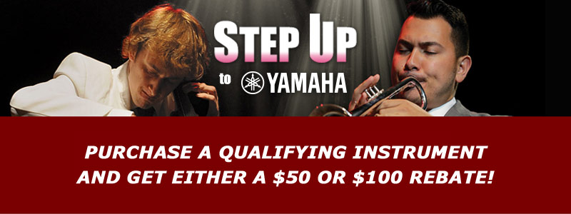 Step Up to Yamaha rebates of $50 or $100