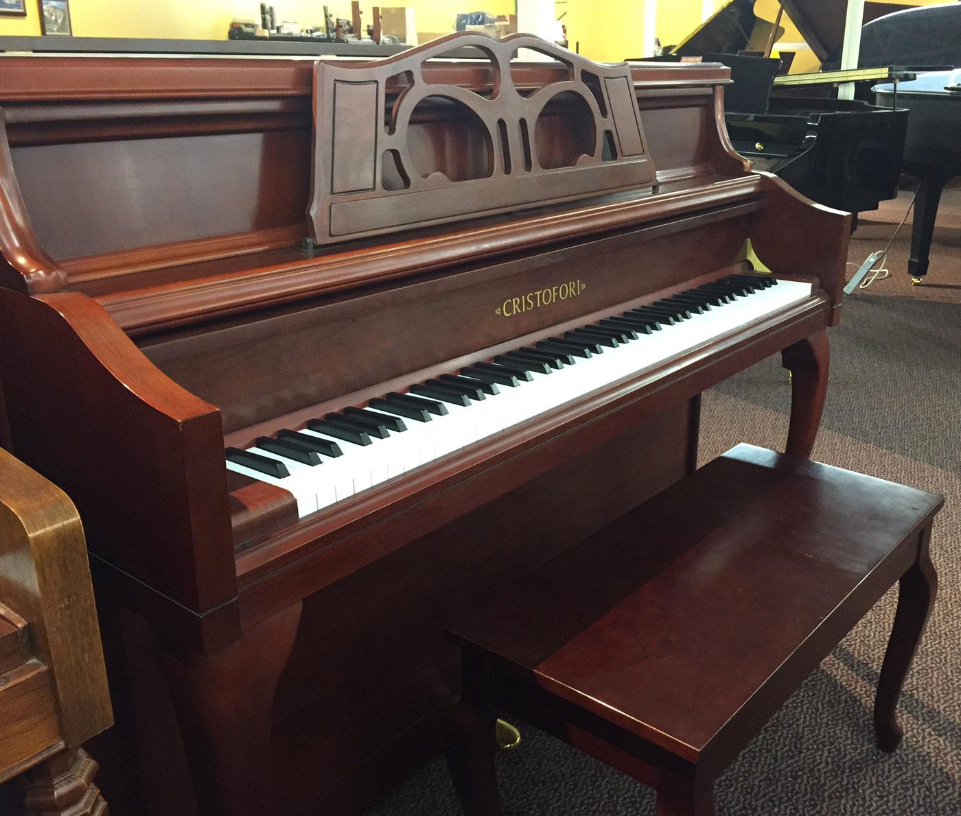Used Cristofori Mahogany Upright Piano
