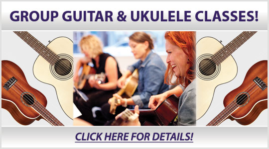 Group Guitar and Group Ukulele Classes starting in January