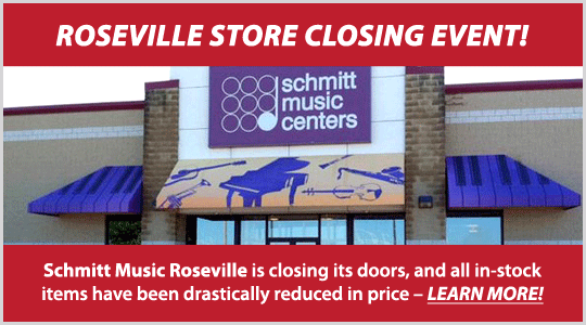Schmitt Music Roseville store closing event - piano sale, closeout deals