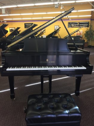 Used Steinway Model L Ebony Satin Grand Piano