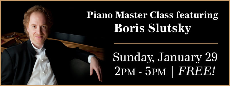 Boris Slutsky Piano Master Class in Kansas City