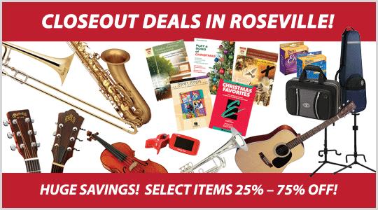 Roseville store closing sale at Schmitt Music, closeout deals