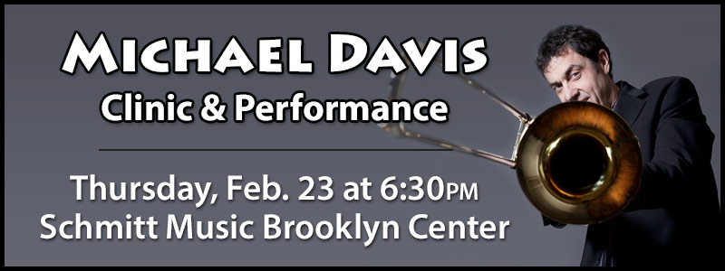 Michael Davis Clinic & Performance at Schmitt Music Brooklyn Center