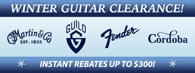 Winter Guitar Clearance Rebates