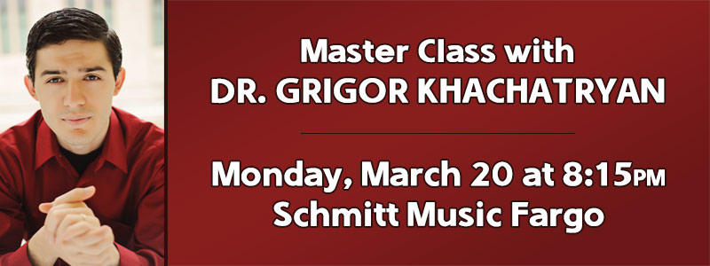 Piano Master Class with Dr. Grigor Khachatryan at Schmitt Music Fargo