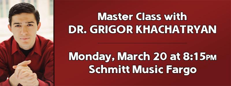 Piano Master Class with Dr. Grigor Khachatryan at Schmitt Music Fargo