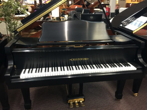 Used Cristofori 6'2 Ebony Satin Grand Piano