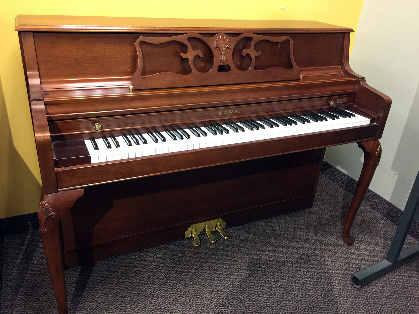 Used Kawai Queen Anne Mahogany Upright Piano