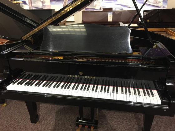 Used Young Chang Ebony Polish Baby Grand Piano