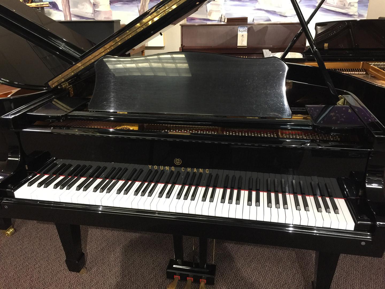 Used Young Chang Ebony Polish Baby Grand Piano