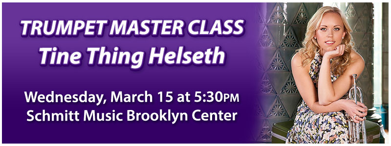Tine Thing Helseth Trumpet Master Class at Schmitt Music Brooklyn Center
