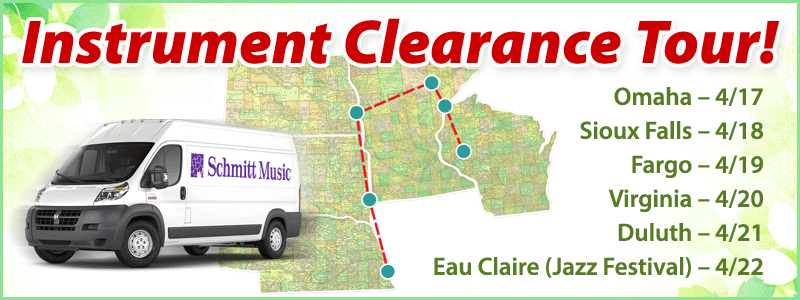Band and Orchestra Instrument Clearance Tour!