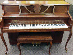 Used Kawai Royal Queen Anne Cherry Console Piano