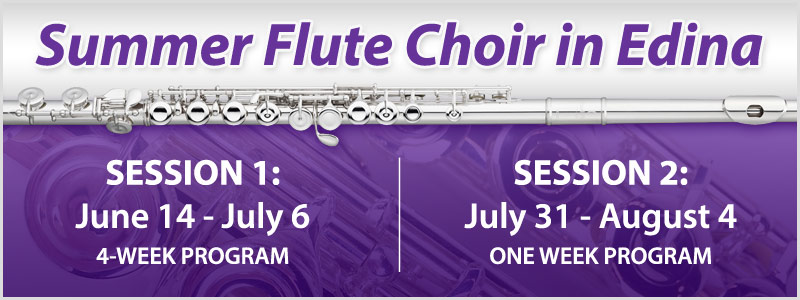 Summer Flute Choir in Edina, 2 sessions available
