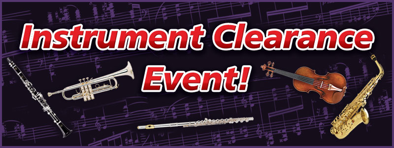 Eau Claire Band & Orchestra Instrument Clearance Event!