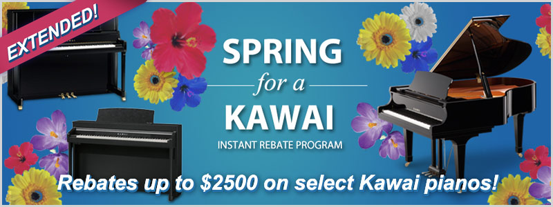 Kawai Instant Rebates up to $2500 Extended through April!