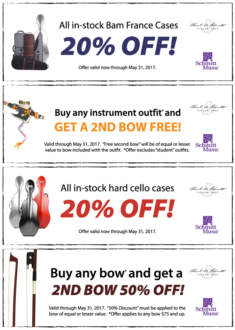 Spring String Sale: Orchestra Strings savings on bows, cases and more