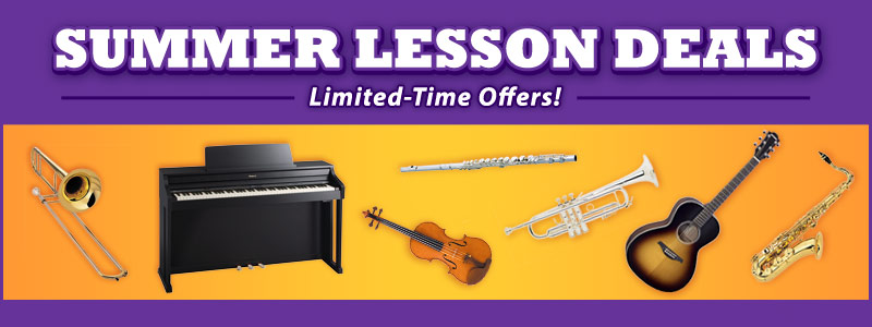 Summer Music Lesson Offers at Schmitt Music!