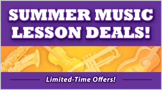 Summer Music Lesson Deals at Schmitt Music; private lesson offers