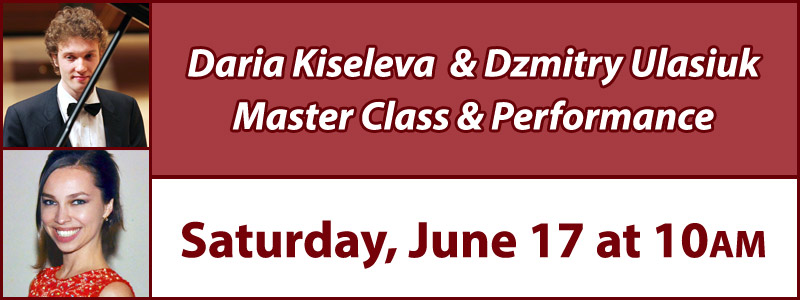 Daria Kiseleva and Dzmitry Ulasiuk Master Class & Performance at Schmitt Music Denver